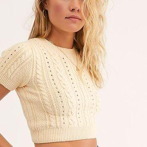 Free People NWT Short Sweet Crop Sweater